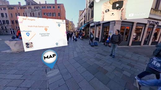 Interactive Venice Square 2 - Cinema8 Interactive 360° Video Guide