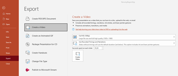 Cinema8 Blog - How to Export Presentation to Video 4