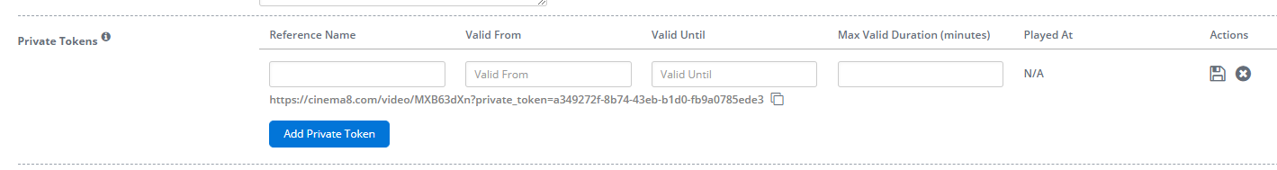Publishing with Private Token URL 2 - Cinema8