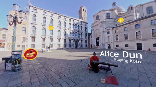Interactive Venice Square 1 - Cinema8 Interactive 360° Video Guide
